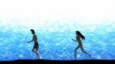 running on da beach